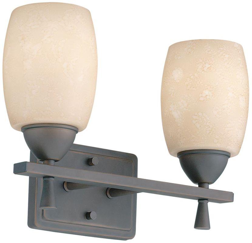 "Lithonia Lighting 11532 14.25"" Wide Ferros 2 Light Vanity Antique"