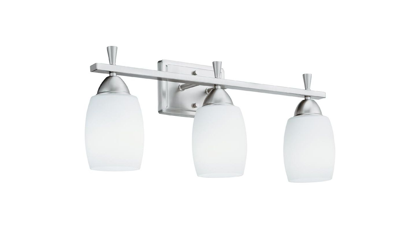 "Lithonia Lighting 11533 24"" Wide Ferros 3 Light Vanity Brushed Nickel Sale $133.50 ITEM: bci2299559 ID#:11533 BN M2 UPC: 784231184622 :"