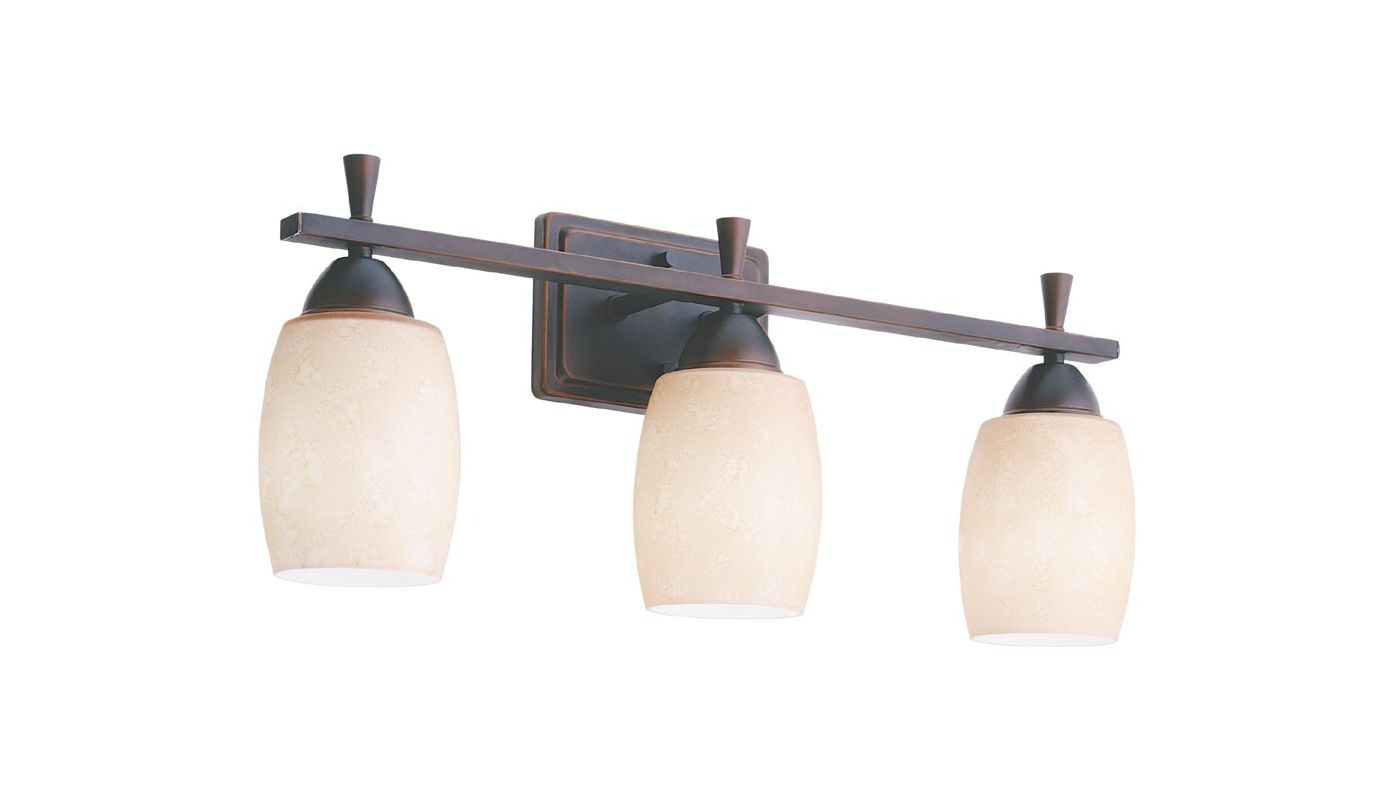 "Lithonia Lighting 11533 24"" Wide Ferros 3 Light Vanity Antique Bronze"
