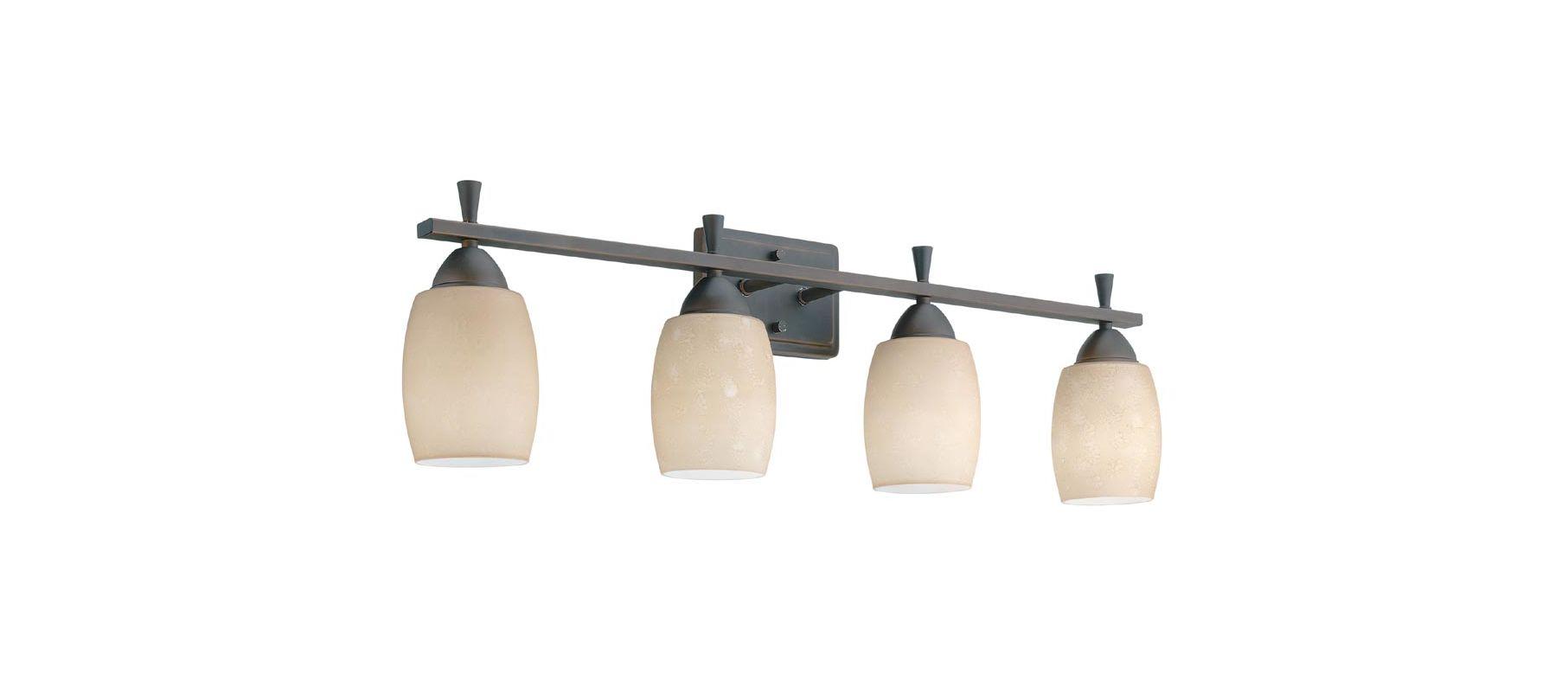 "Lithonia Lighting 11534 33.75"" Wide Ferros 4 Light Vanity Antique"