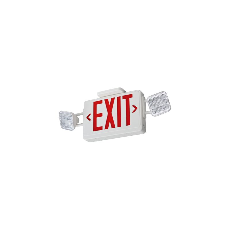 Lithonia Lighting ECR LED M6 Red LED Ceiling Mount Exit Sign /
