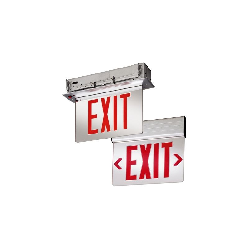"Lithonia Lighting EDG 1 R EL M6 13"" LED Lighted Exit Sign Clear"