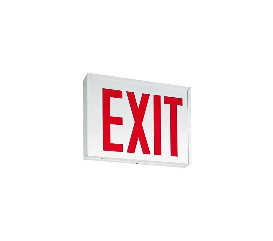 "Lithonia Lighting LXNY W 3 R EL M4 15"" LED Lighted Exit Sign ADA"