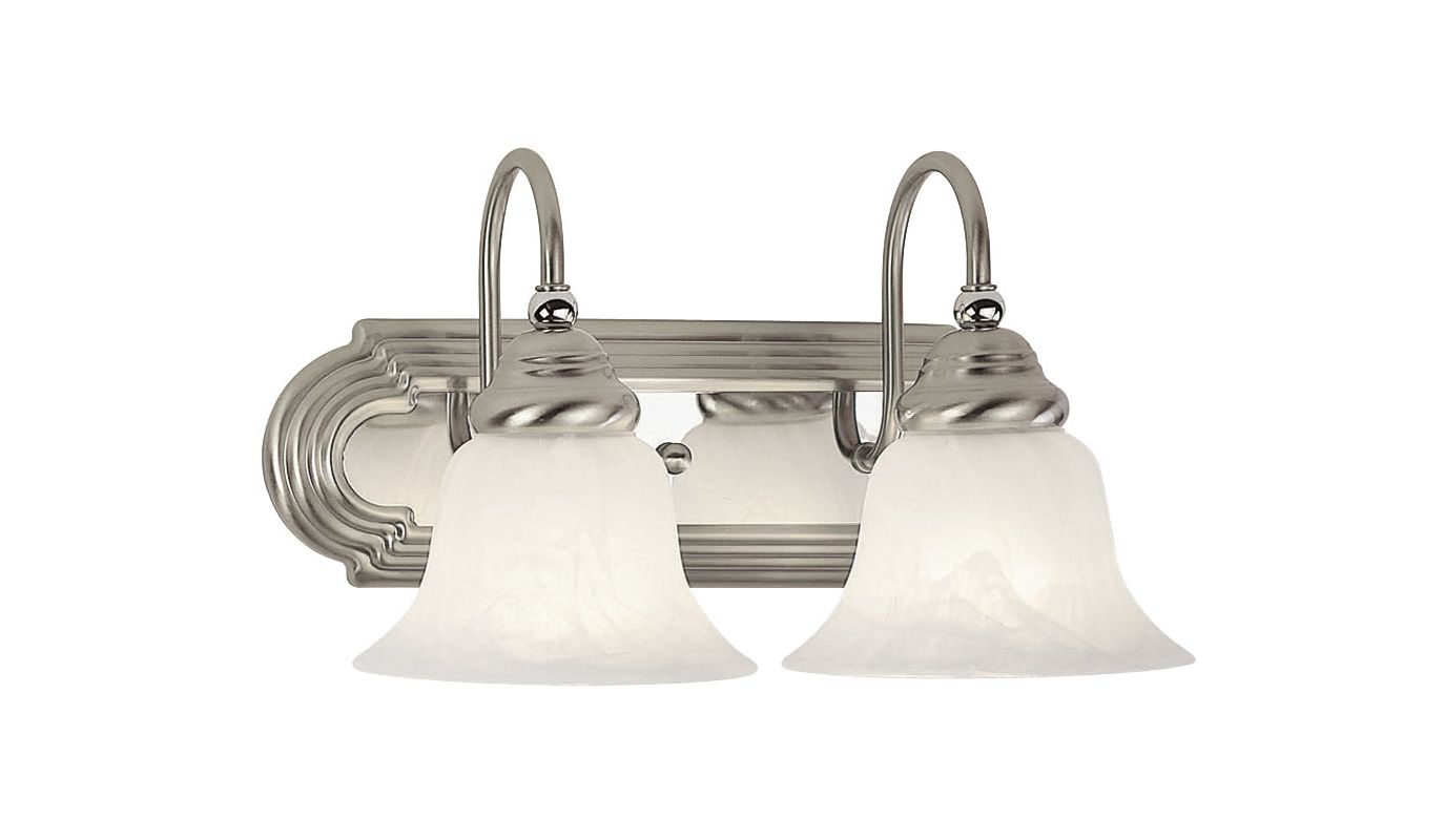 Livex Lighting 1002 Belmont 2 Light Bathroom Vanity Light Brushed