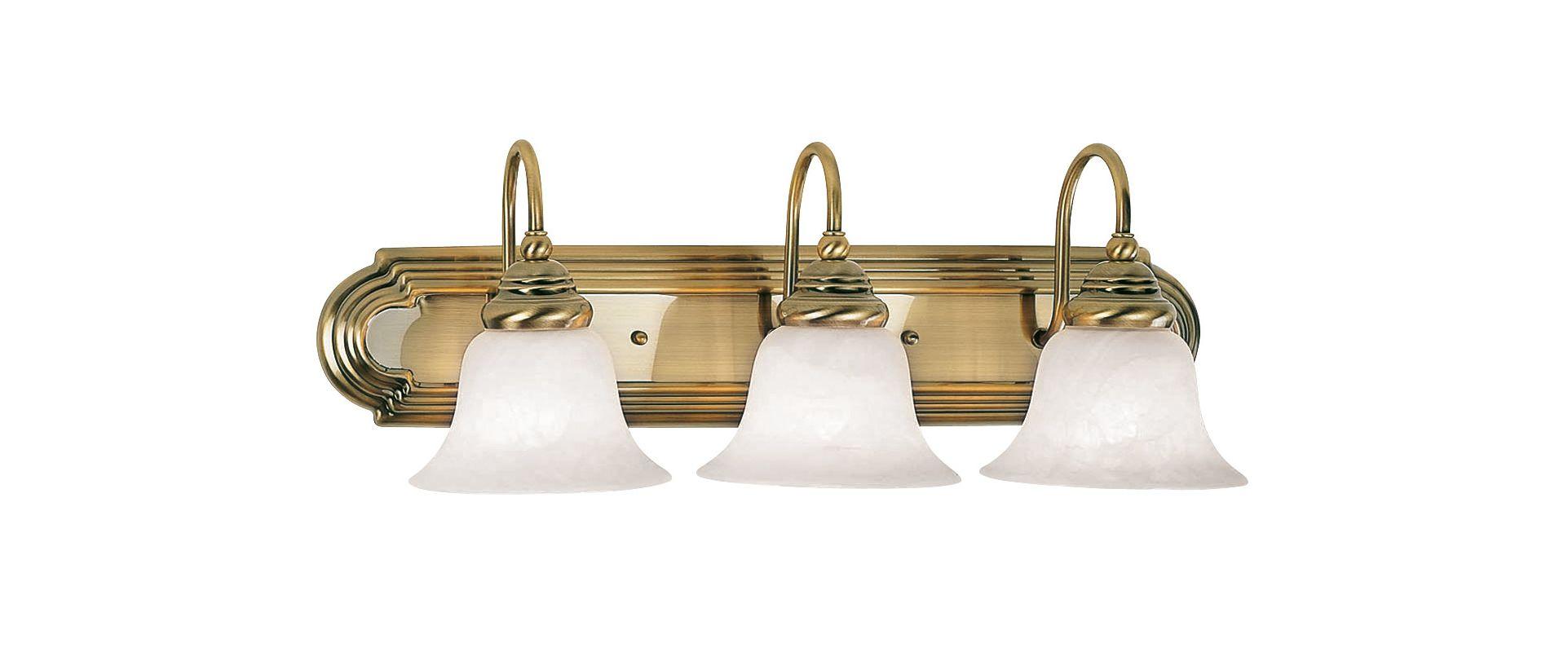 Livex Lighting 1003 Belmont 3 Light Vanity Light Antique Brass Indoor
