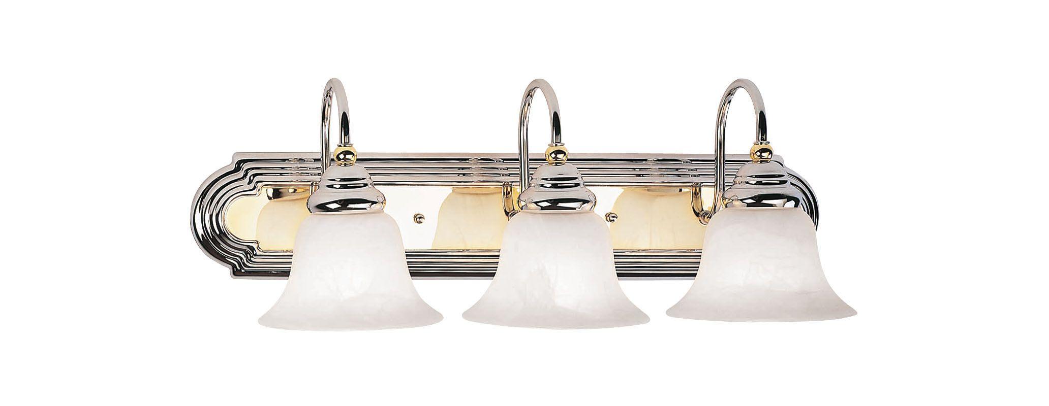 Livex Lighting 1003 Belmont 3 Light Vanity Light Chrome/Polished Brass