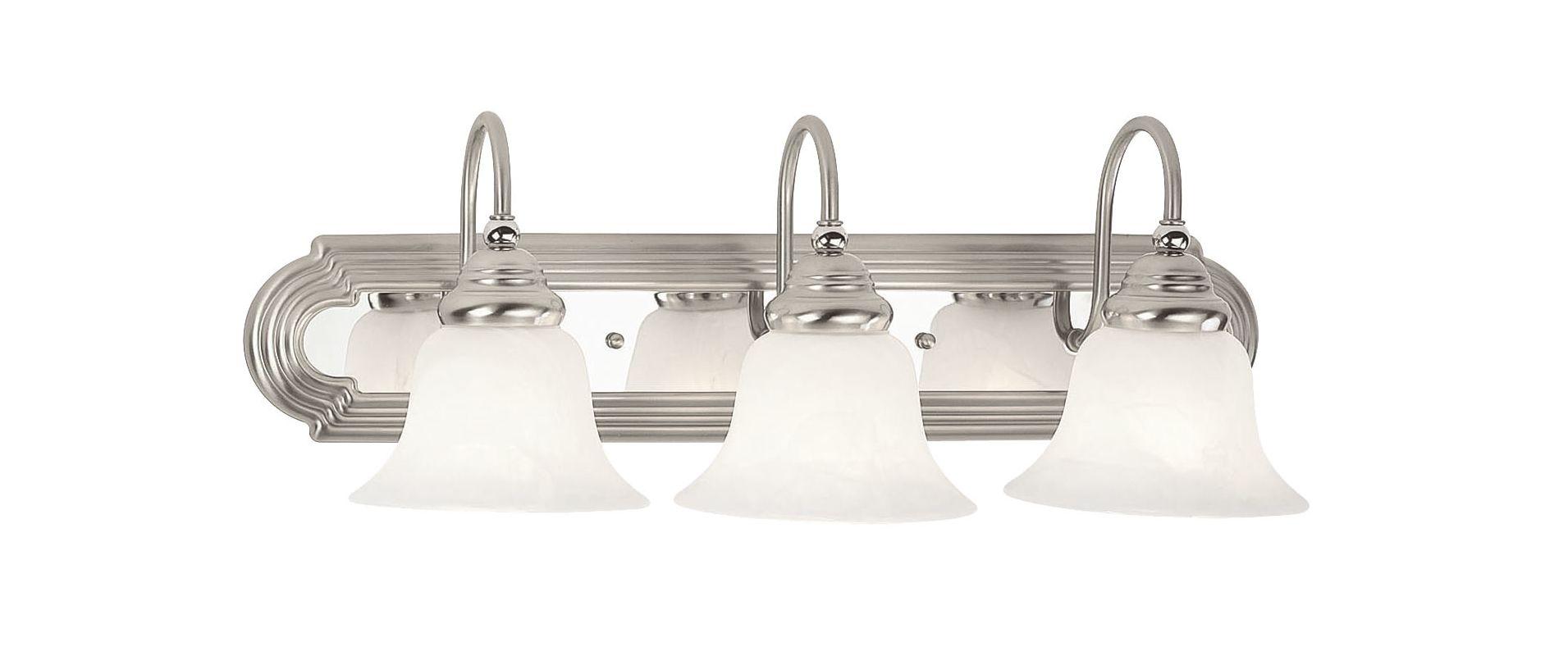 Livex Lighting 1003 Belmont 3 Light Vanity Light Brushed Nickel/Chrome Sale $143.91 ITEM: bci1033255 ID#:1003-95 UPC: 847284007314 :