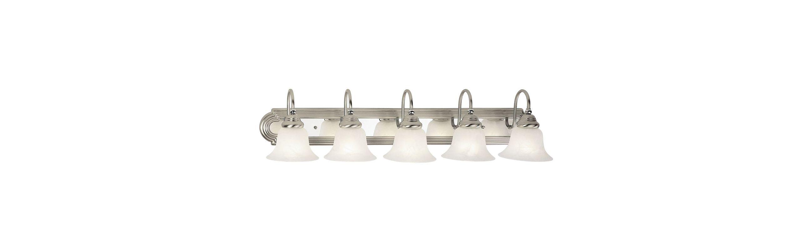 Livex Lighting 1005 Belmont 5 Light Vanity Light Brushed Nickel/Chrome