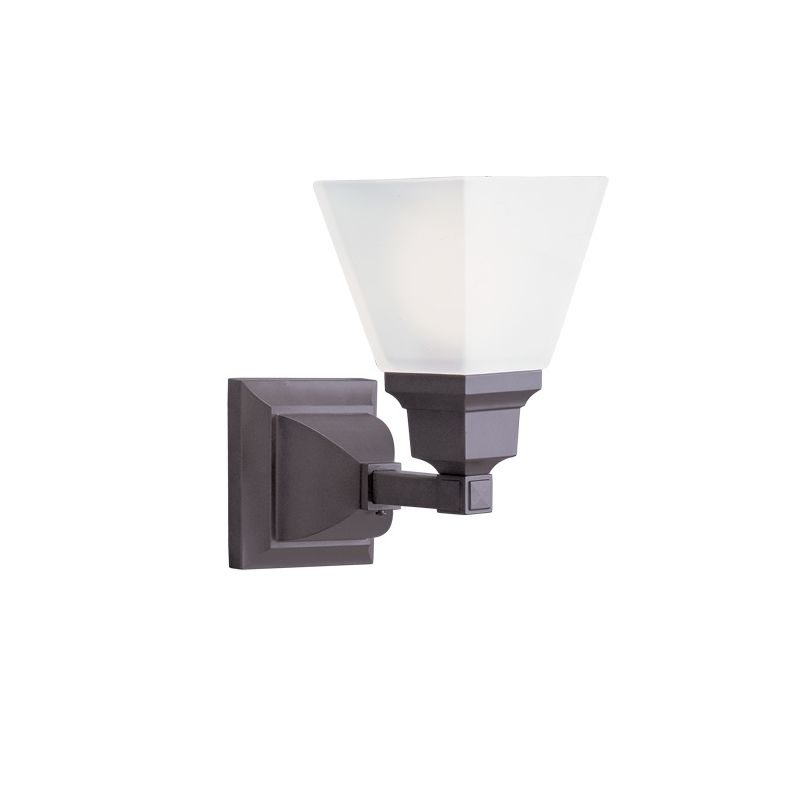 Livex Lighting 1031 Mission 1 Light Wall Sconce Bronze Indoor Lighting Sale $107.91 ITEM: bci1033268 ID#:1031-07 UPC: 847284007406 :