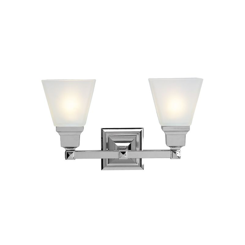 Livex Lighting 1032 Mission 2 Light Bathroom Vanity Light Chrome