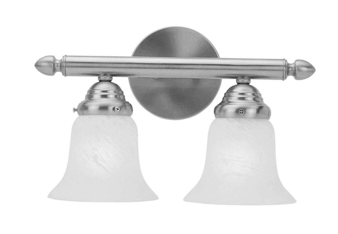 Livex Lighting 1062P Neptune 2 Light Bathroom Vanity Light Brushed