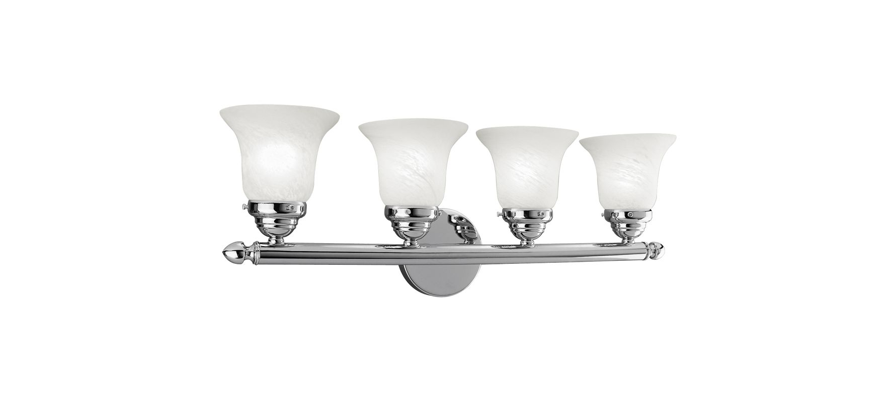 Livex Lighting 1064P Neptune 4 Light Bathroom Vanity Light Chrome