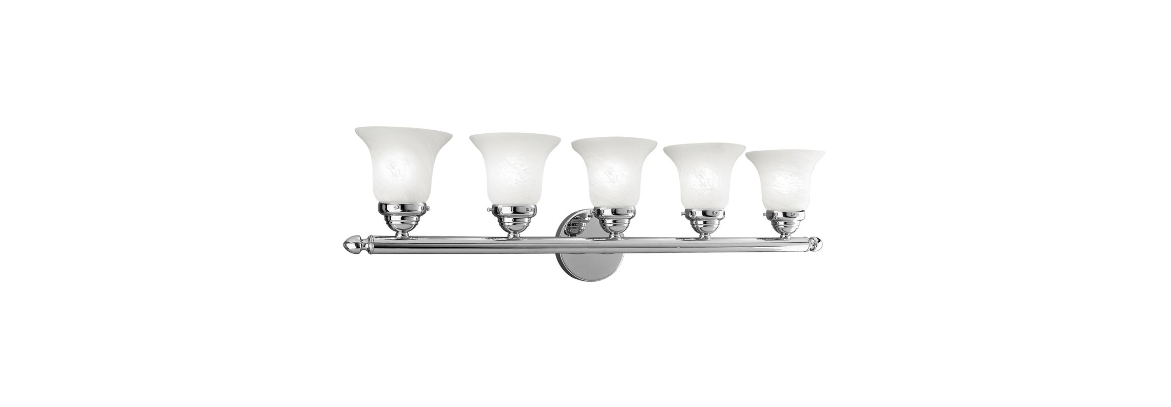 Livex Lighting 1065P Neptune 5 Light Bathroom Vanity Light Chrome