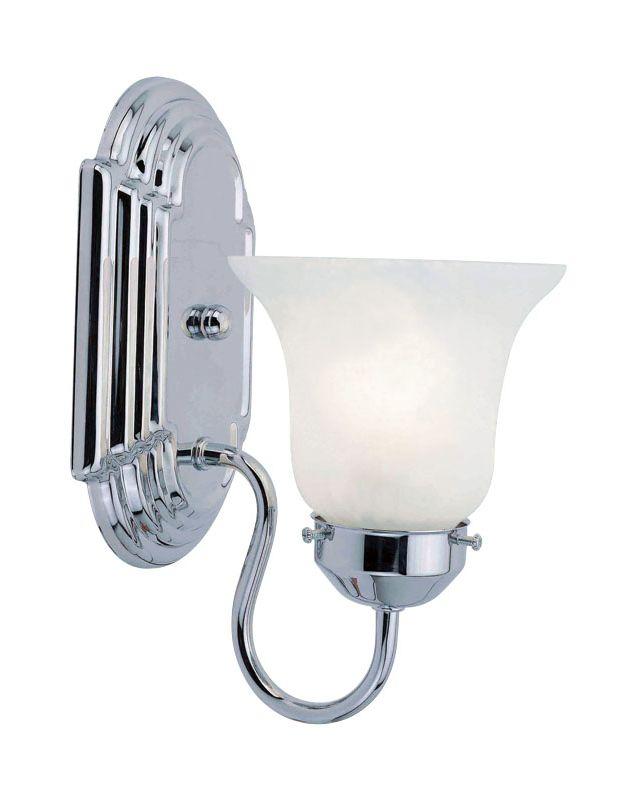 Livex Lighting 1071P Riviera 1 Light Bathroom Sconce Chrome Indoor