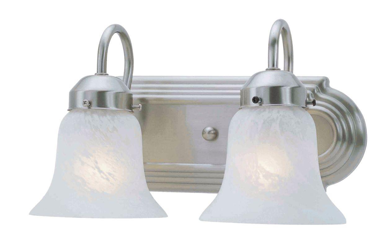 Livex Lighting 1072P Riviera 2 Light Bathroom Vanity Light Brushed