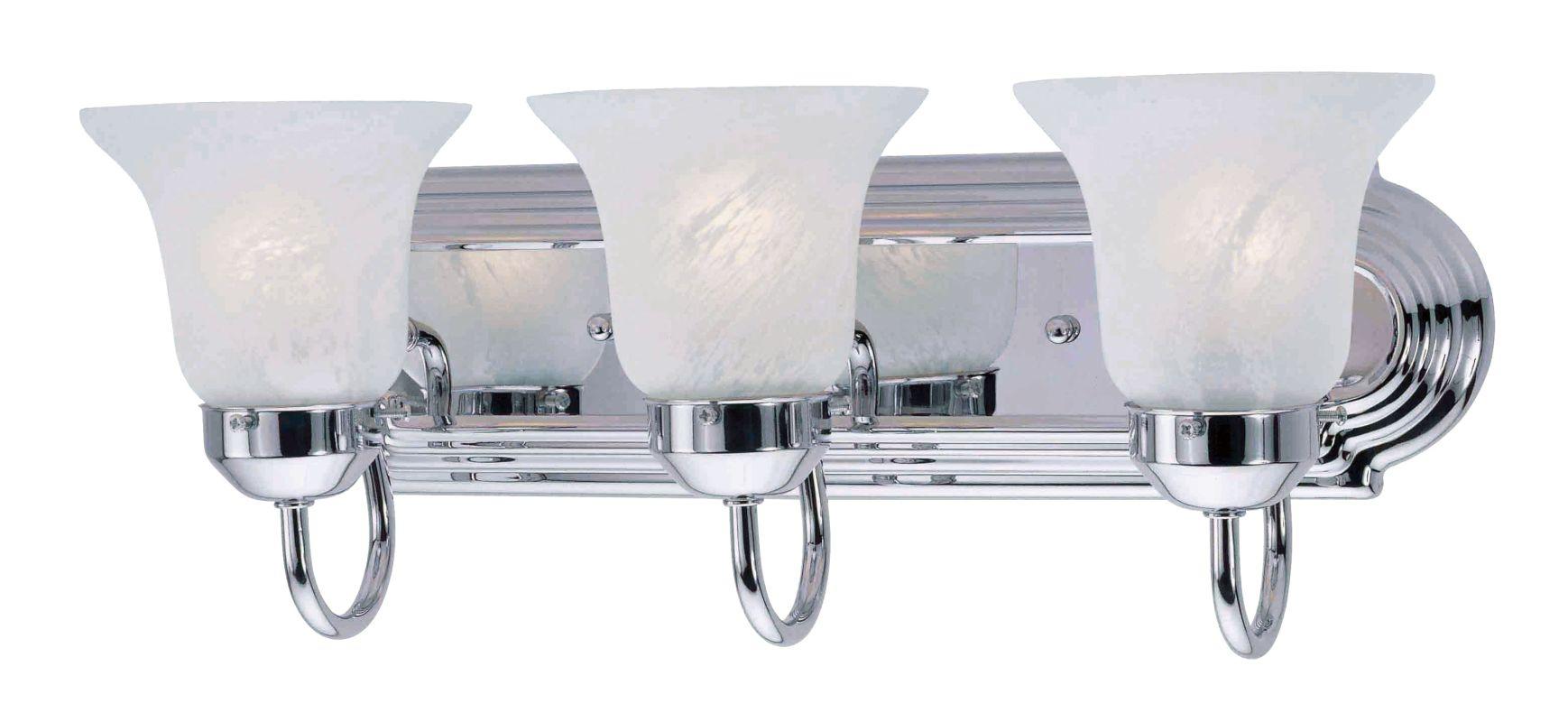 Livex Lighting 1073P Riviera 3 Light Bathroom Vanity Light Chrome