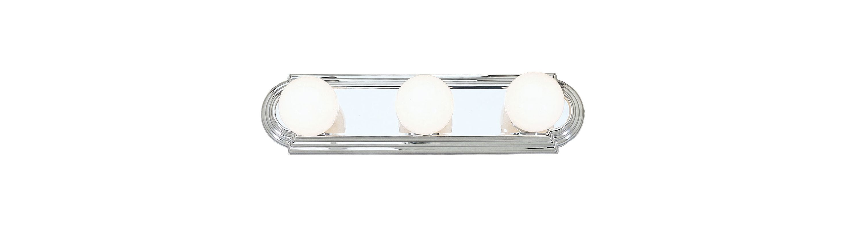 Livex Lighting 1143 Bath Basics 3 Light Bathroom Vanity Strip Chrome