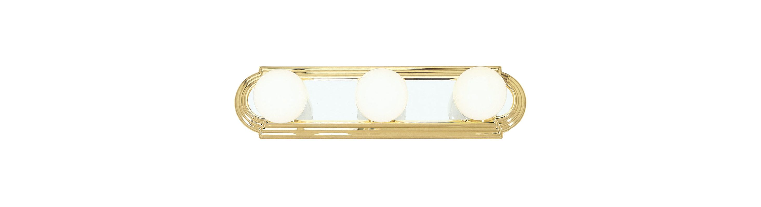 Livex Lighting 1143 Bath Basics 3 Light Bathroom Vanity Strip Polished