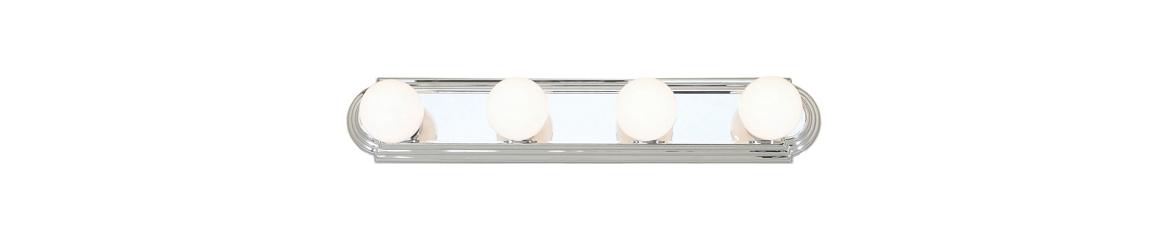 Livex Lighting 1144 Bath Basics 4 Light Bathroom Vanity Strip Chrome