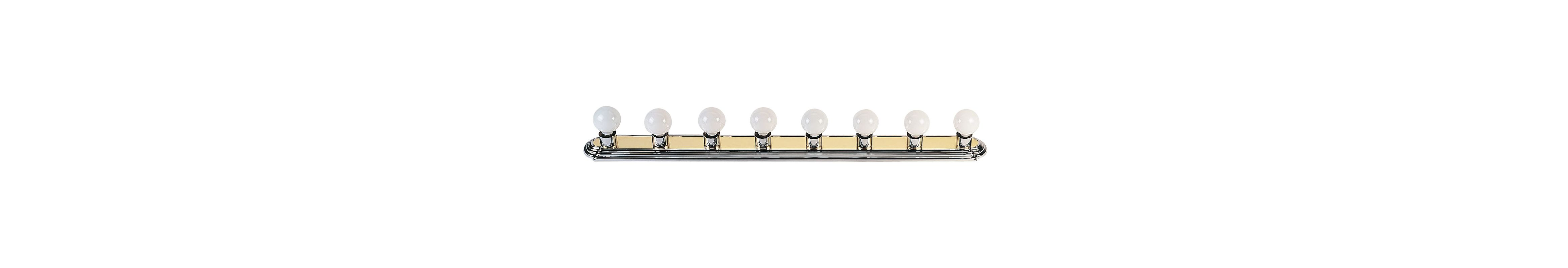 Livex Lighting 1148 Bath Basics 8 Light Bathroom Vanity Strip