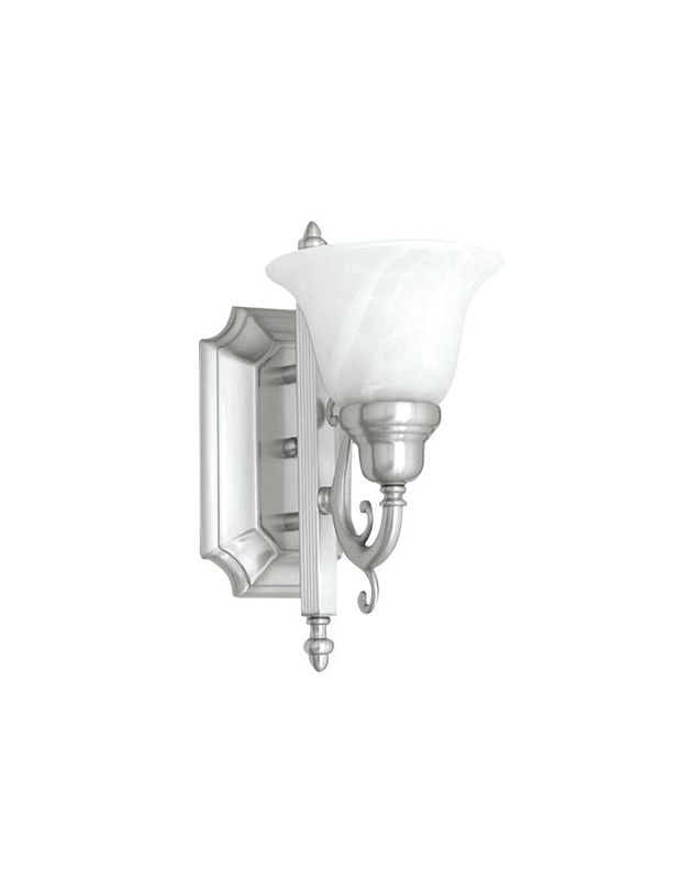 Livex Lighting 1281 French Regency 1 Light Bathroom Sconce Brushed