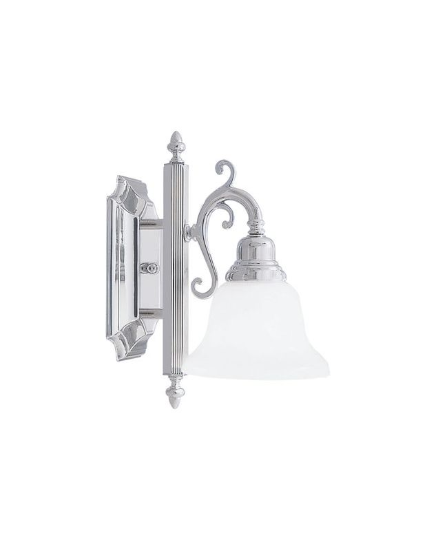 Livex Lighting 1281 French Regency 1 Light Bathroom Sconce Chrome