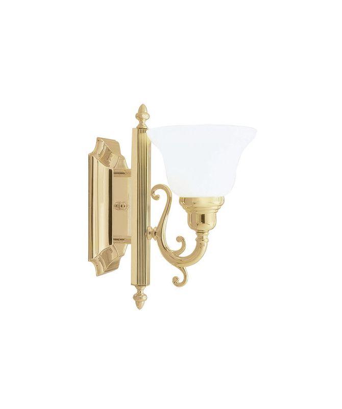 Livex Lighting 1281 French Regency 1 Light Bathroom Sconce Polished