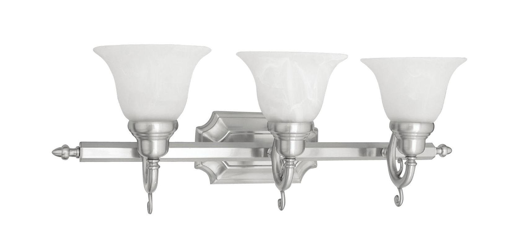 Livex Lighting 1283S French Regency 3 Light Bathroom Vanity Light