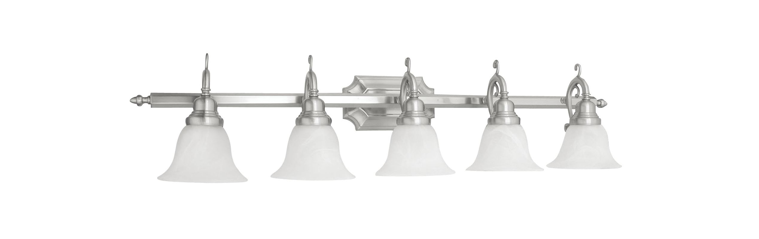 Livex Lighting 1285S French Regency 5 Light Bathroom Vanity Light