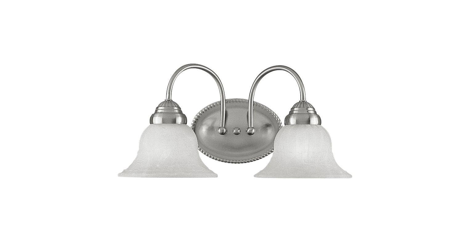 Livex Lighting 1532 Edgemont Bathroom Vanity Bar with 2 Lights Brushed