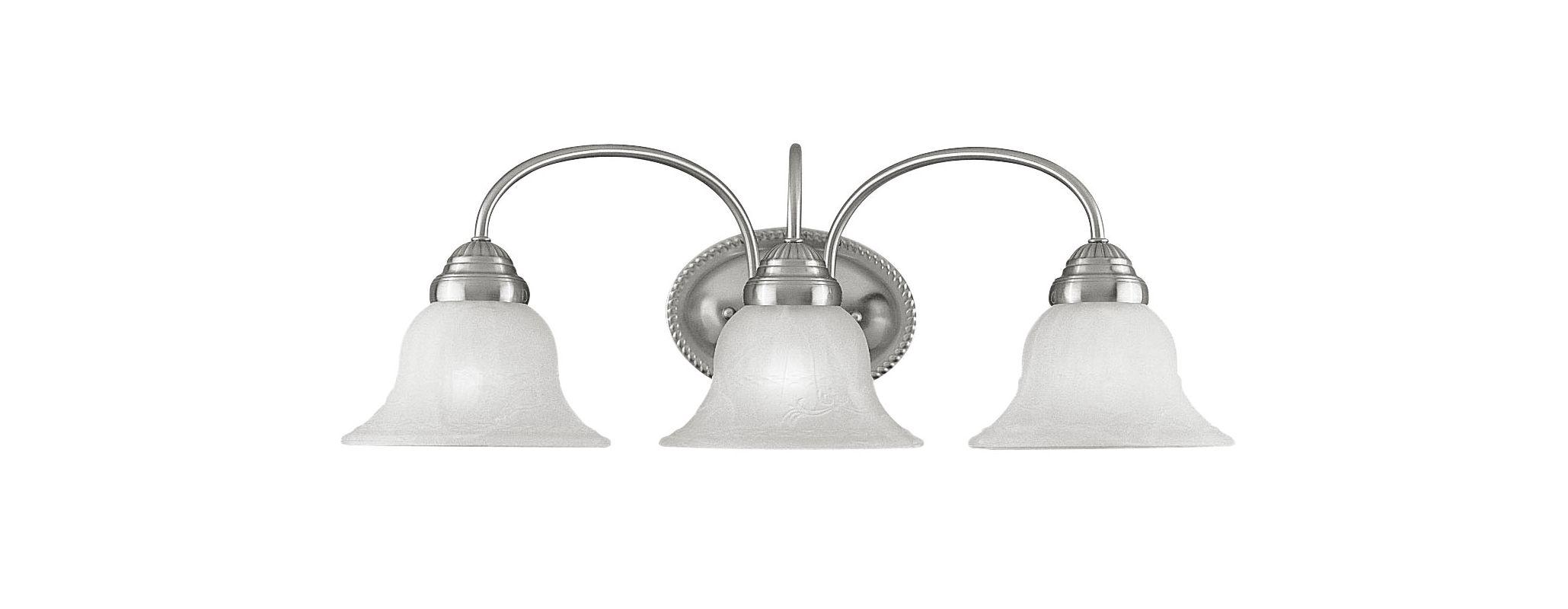 Livex Lighting 1533 Edgemont Bathroom Vanity Bar with 3 Lights Brushed