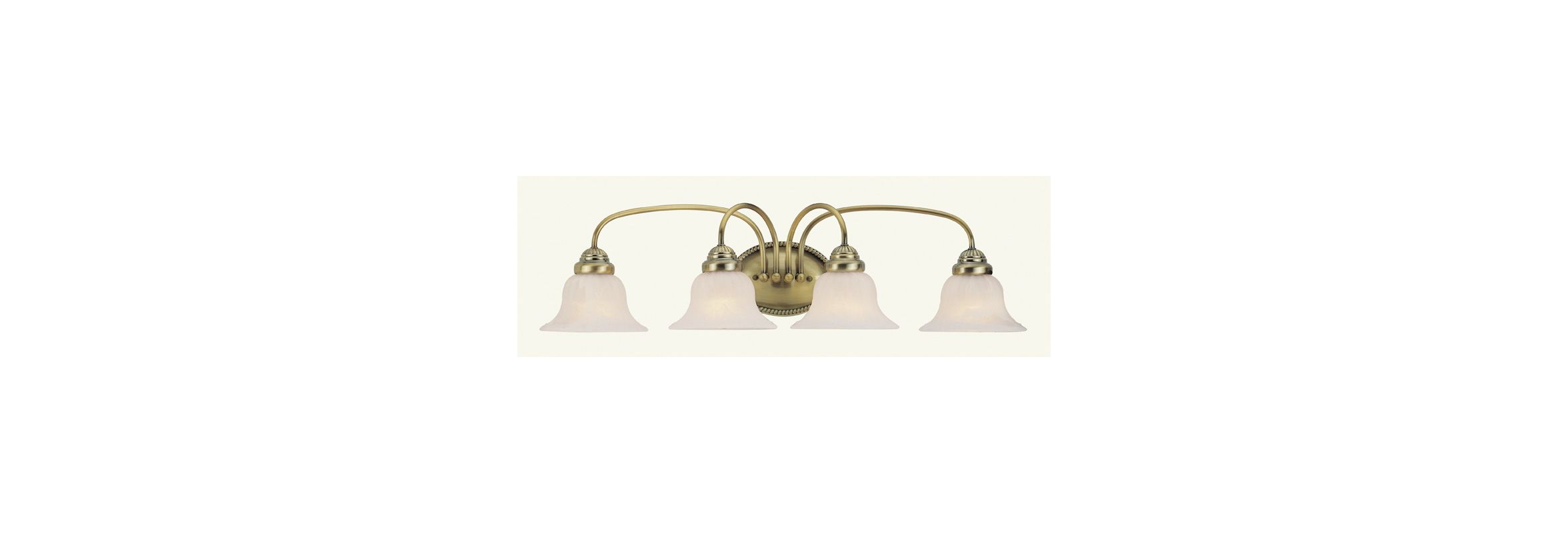 Livex Lighting 1534 Edgemont Bathroom Vanity Bar with 4 Lights Antique