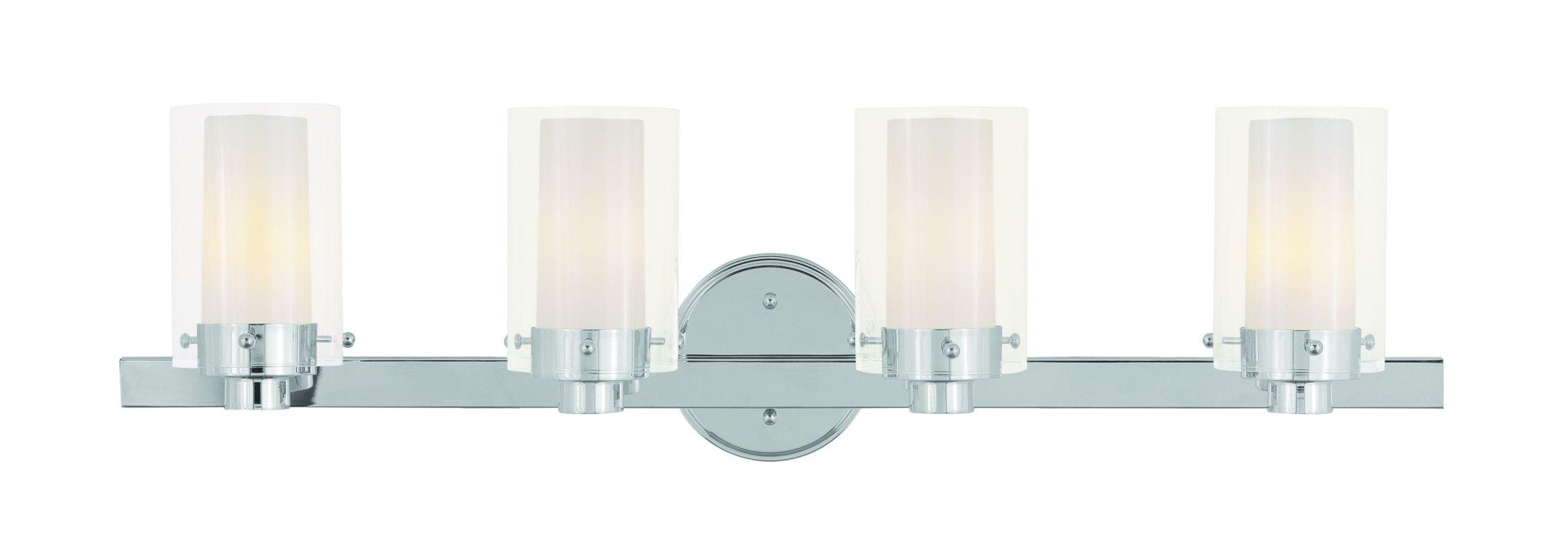 Livex Lighting 1544 Manhattan 4 Light Bathroom Vanity Light Chrome