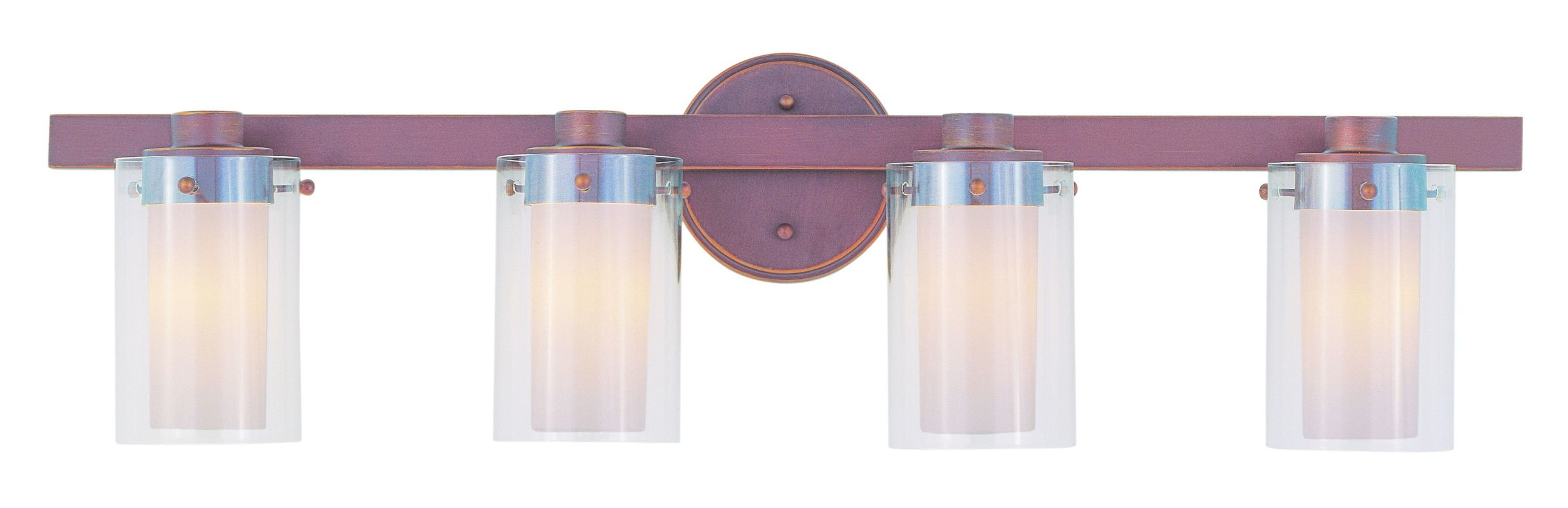 Livex Lighting 1544 Manhattan 4 Light Bathroom Vanity Light Vintage