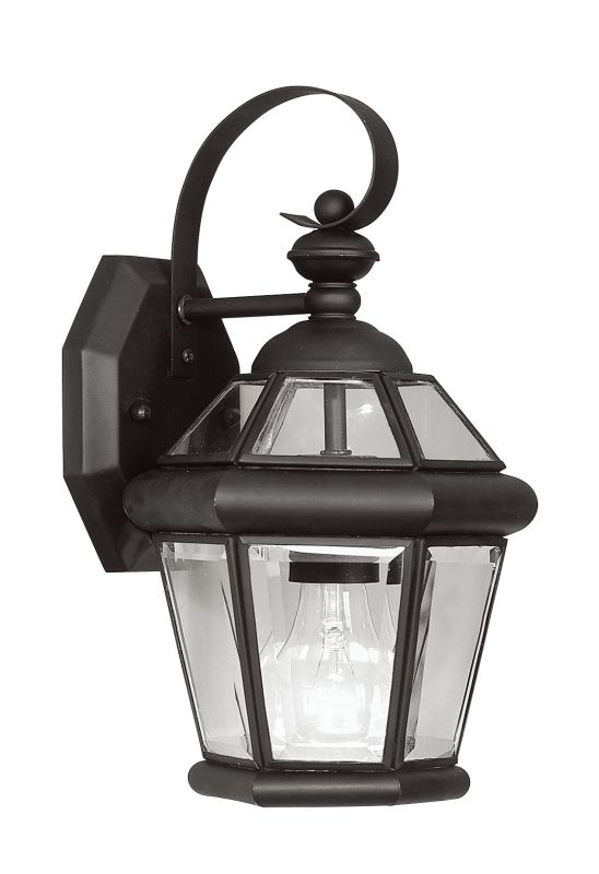 Livex Lighting 2061 Georgetown 1 Light Outdoor Wall Sconce Black