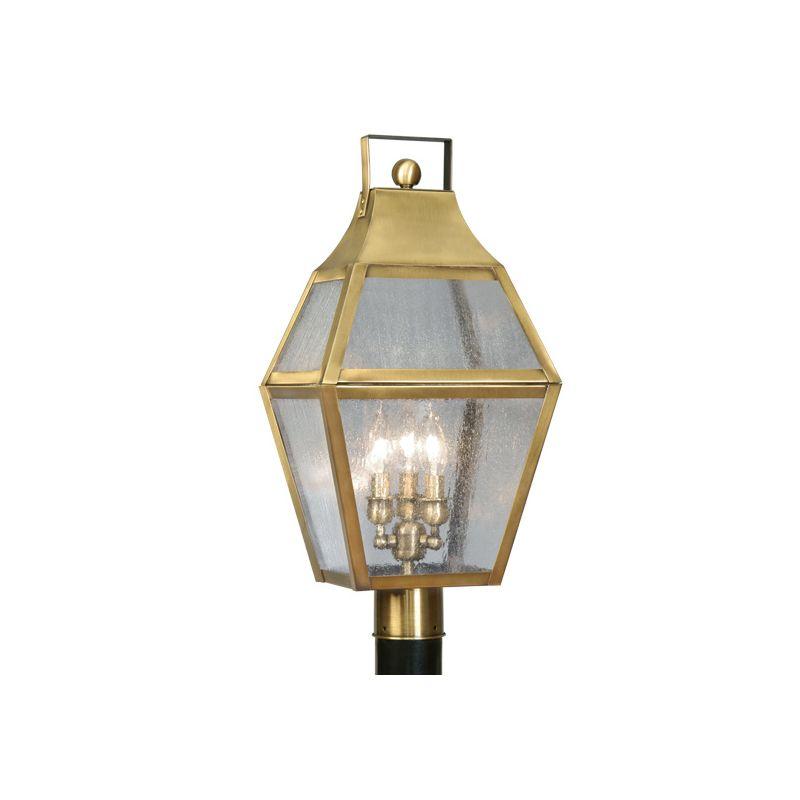 Livex Lighting 2083 Augusta 3 Light Outdoor Post Light Flemish Brass