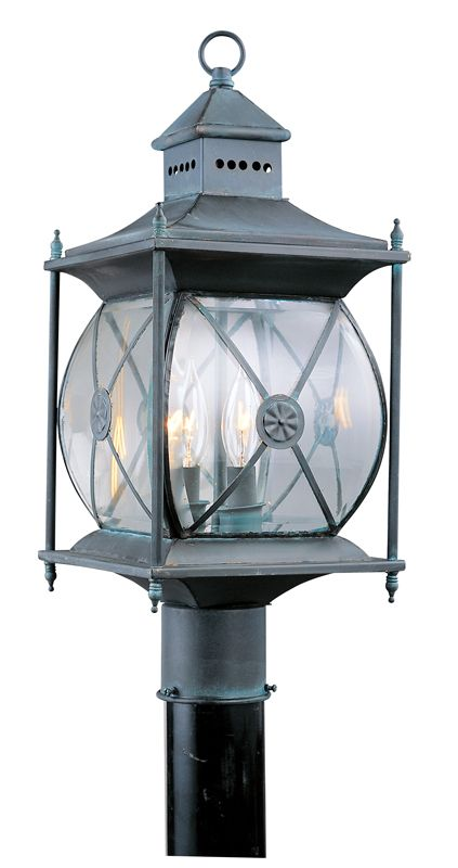Livex Lighting 2094 Providence 2 Light Outdoor Post Light Charcoal
