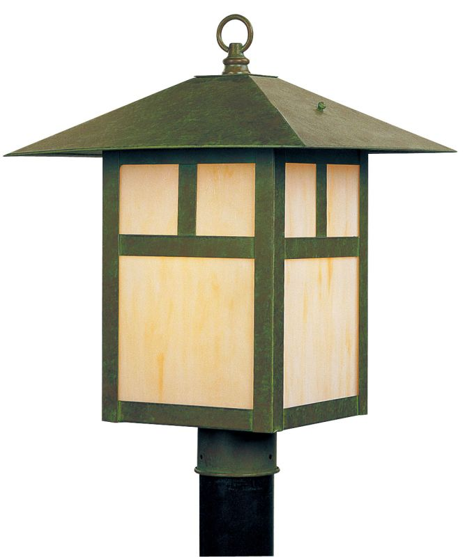 Livex Lighting 2134 Montclair Mission 1 Light Outdoor Post Light Verde
