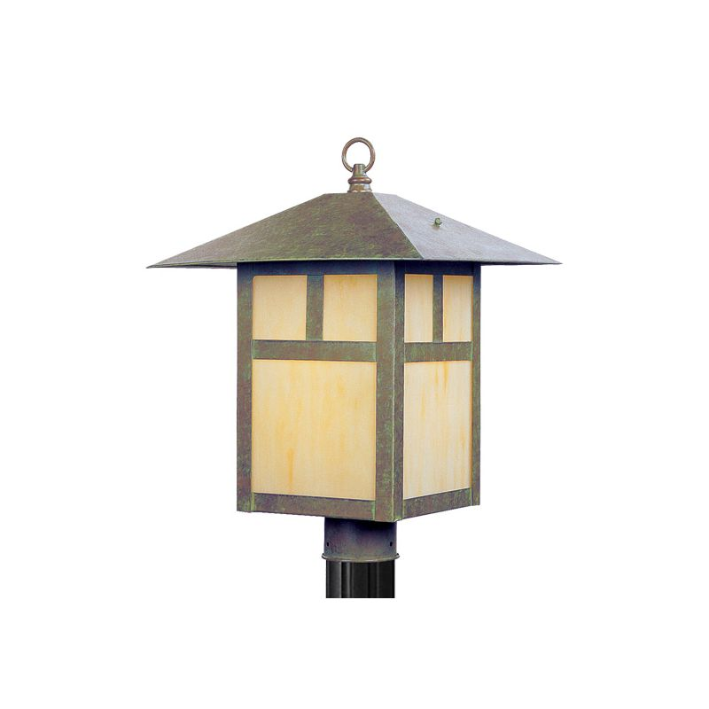 Livex Lighting 2140 Montclair Mission 1 Light Outdoor Post Light Verde