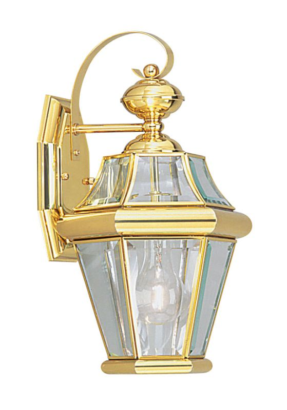 Livex Lighting 2161 Georgetown 1 Light Outdoor Wall Sconce Polished