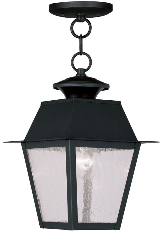 Livex Lighting 2164 Mansfield Outdoor Pendant with 1 Light Black Sale $159.90 ITEM: bci2069182 ID#:2164-04 UPC: 847284027435 :