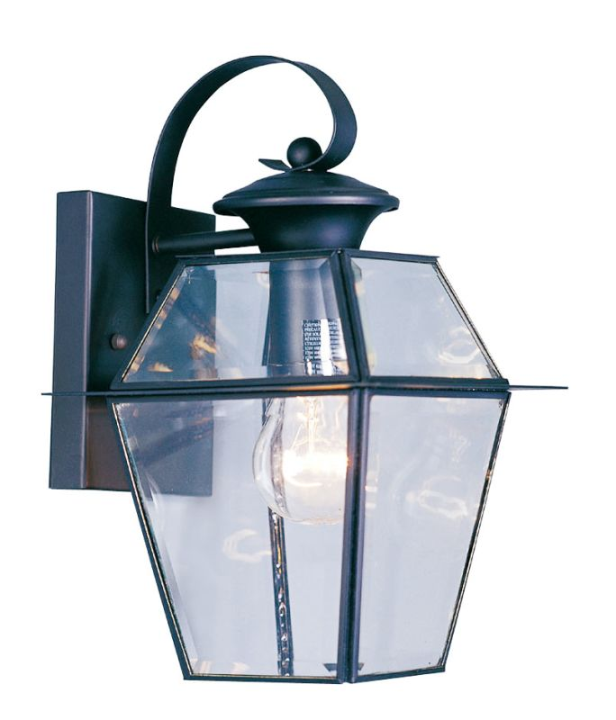 Livex Lighting 2181 Westover 1 Light Outdoor Wall Sconce Black Outdoor
