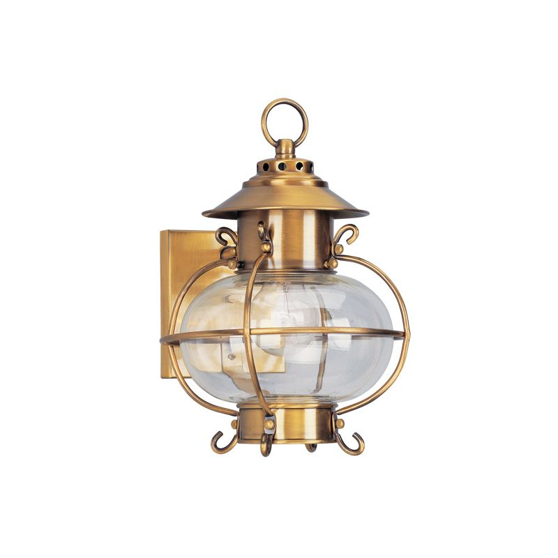 Livex Lighting 2221 Harbor 1 Light Outdoor Wall Sconce Flemish Brass