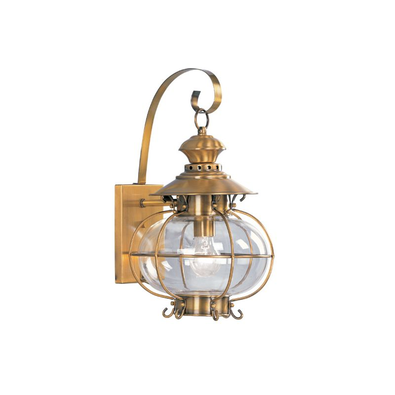 Livex Lighting 2222 Harbor 1 Light Outdoor Wall Sconce Flemish Brass