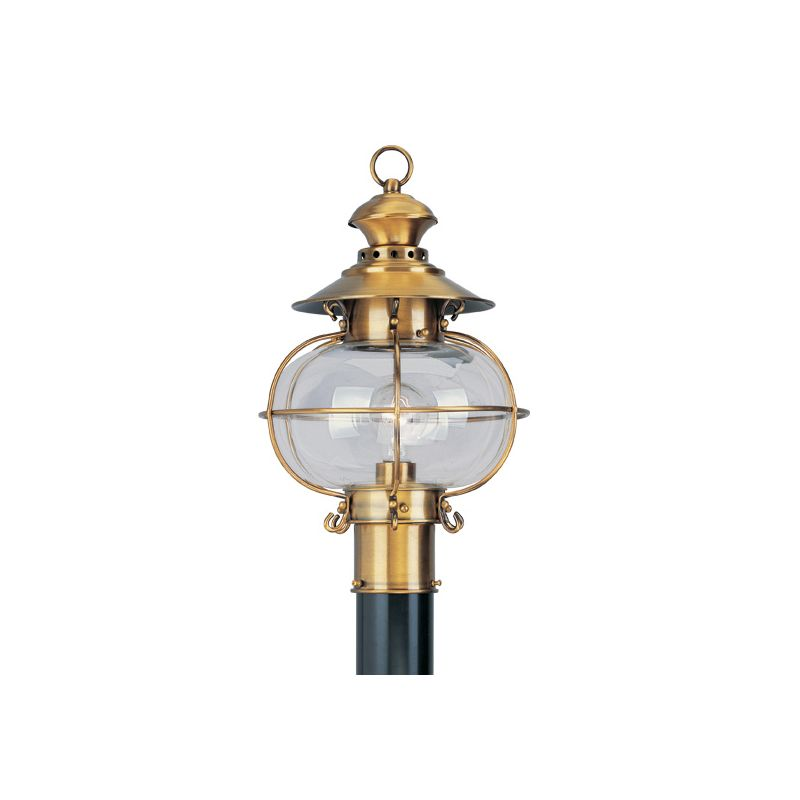 Livex Lighting 2224 Harbor 1 Light Outdoor Post Light Flemish Brass