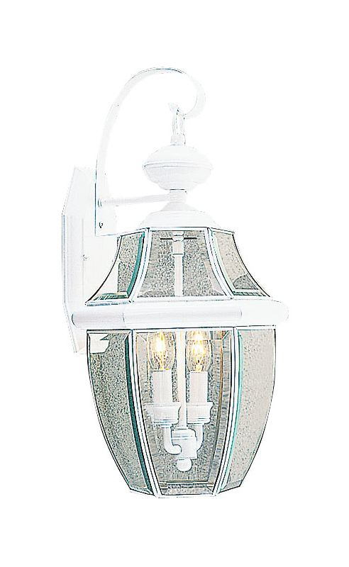 Livex Lighting 2251 Monterey 2 Light Outdoor Wall Sconce White Outdoor Sale $179.90 ITEM: bci1033620 ID#:2251-03 :
