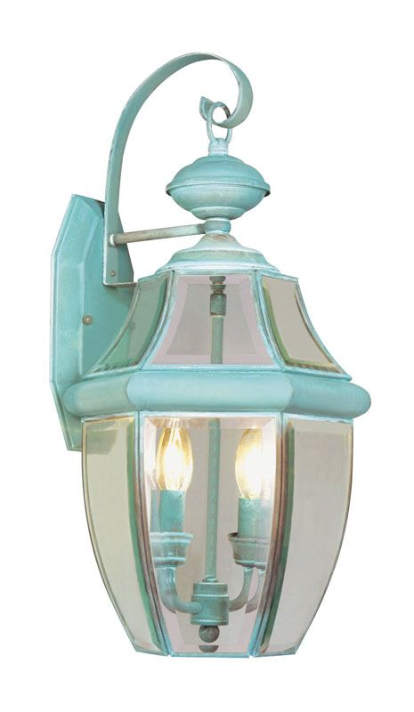 Livex Lighting 2251 Monterey 2 Light Outdoor Wall Sconce Verdigris