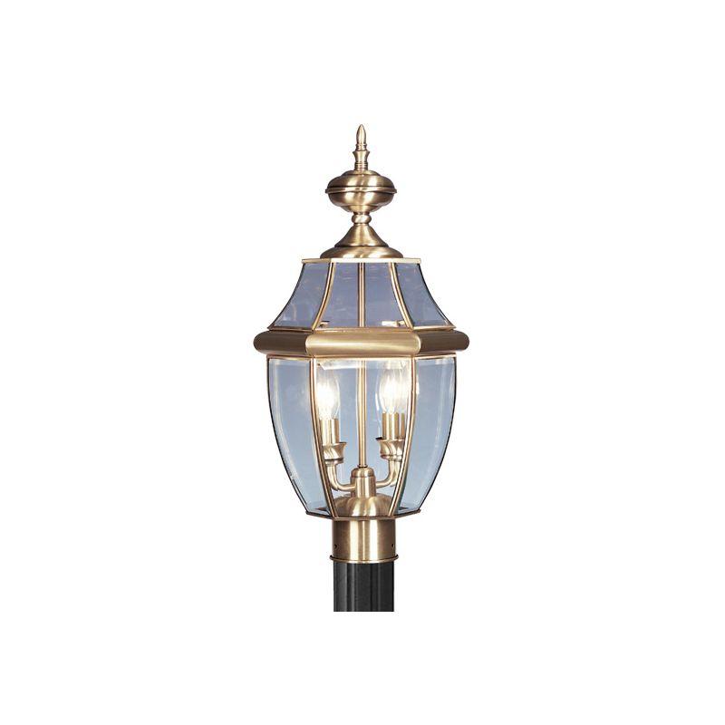 Livex Lighting 2254 Monterey 2 Light Outdoor Post Light Antique Brass