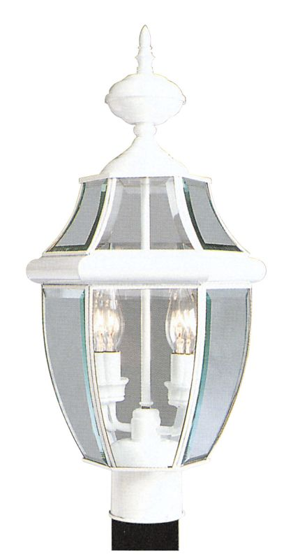 Livex Lighting 2254 Monterey 2 Light Outdoor Post Light White Outdoor