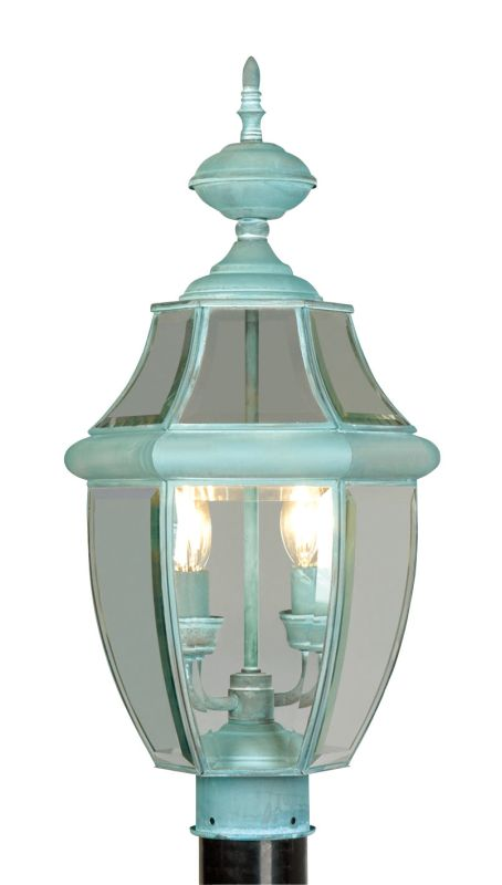 Livex Lighting 2254 Monterey 2 Light Outdoor Post Light Verdigris